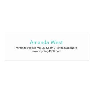Personal elegante simple genérico moderno azul de  plantillas de tarjetas de visita