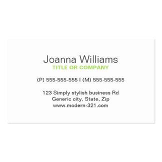 Personal elegante simple genérico moderno de la ve tarjetas de visita