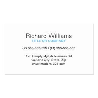 Personal elegante simple genérico moderno del azul tarjeta de visita