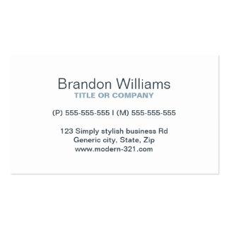 Personal elegante simple genérico moderno del carb tarjetas de visita