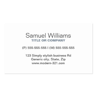 Personal elegante simple genérico moderno del gris tarjetas de visita