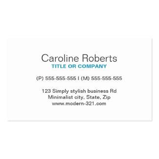 Personal elegante simple genérico moderno del trul plantilla de tarjeta de negocio