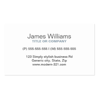 Personal elegante simple genérico moderno gris del tarjeta de visita