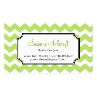 Personal elegante verde del modelo de zigzag del tarjetas de visita