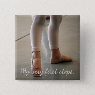 PERSONAL FIRST STEPS BALLERINA DANCER PHOTO MAGNET PINBACK BUTTON