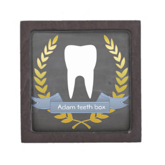 Personal first tooth and theeth box for child premium jewelry box
