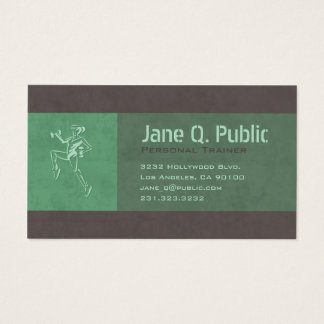 Personal Fitness Trainer Aerobic Business Card