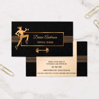Personal Fitness Trainer Appointment Business Card