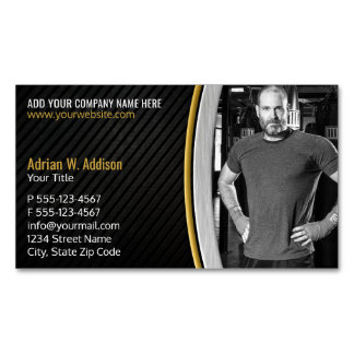 Personal Fitness Trainer Gym Boxing Instructor Magnetic Business Card