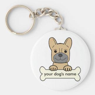 Personal French Bulldog Keychain