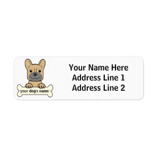 Personal French Bulldog Label