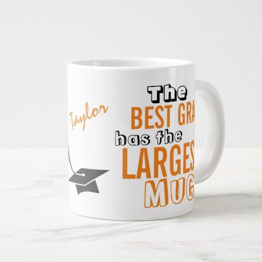 Personal Funny Best GRAD Orange Big Mug Graduation