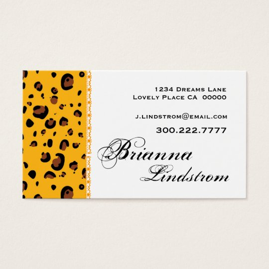 Personal Gold Leopard Business Card