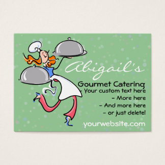 Personal Gourmet Chef/Catering promotional card