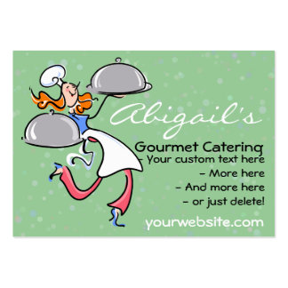Personal Gourmet Chef/Catering promotional card Large Business Cards (Pack Of 100)