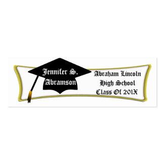 Personal Graduation Card, Add Name, School & Year Mini Business Card