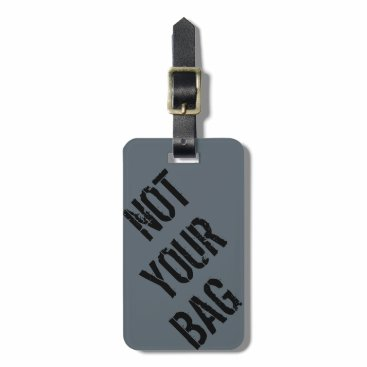 takeme4aride PERSONAL GREY BLUE GREEN TRAVEL LUGGAGE TAG