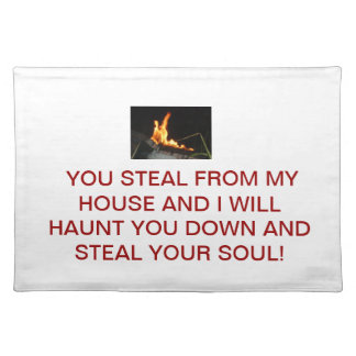 Personal Grim Reaper Cloth Placemat