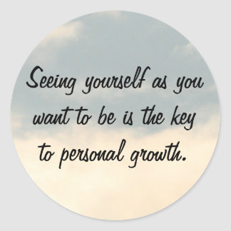 Personal Growth Classic Round Sticker