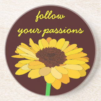 Personal Growth: Follow Your Passions Drink Coaster