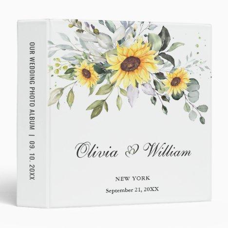 Personal holiday custom photo album 3 ring binder
