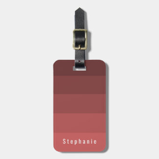 Personal Identification Coral Red Hues Luggage Tag