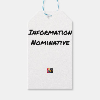 PERSONAL INFORMATION - Word games Gift Tags