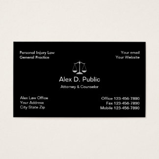Personal Injury Attorney Business Card