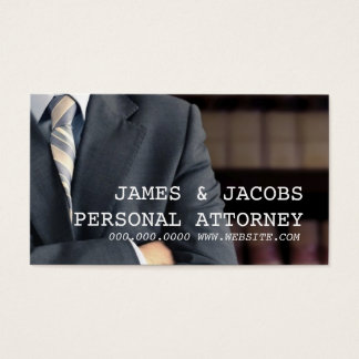 Personal Injury Attorney Law Lawyer Business Card