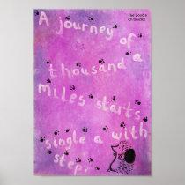 Personal Journeys - Wise Hedgehog - Mental Health Poster