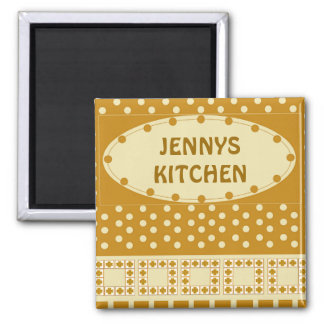 PERSONAL KITCHEN MAGNET,ADD YOUR OWN NAME 2 INCH SQUARE MAGNET