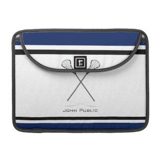 Personal Lacrosse Blue Black Macbook Pro 13 Sleeve Sleeves For MacBooks