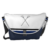 Personal Lacrosse Messenger Bag Large at Zazzle