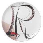 personal lettered idems dinner plates