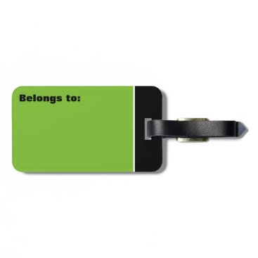 takeme4aride PERSONAL LIME GREEN GREY TRAVEL LUGGAGE TAG