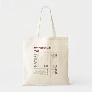 personal map tote bag