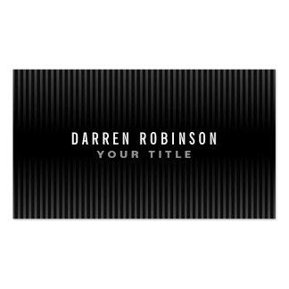 Personal masculino simple genérico moderno rayado tarjetas de negocios