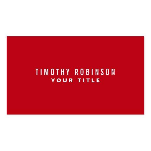 Personal masculino simple genérico moderno rojo tarjeta personal