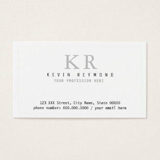 personal minimalist basic white presentation business card