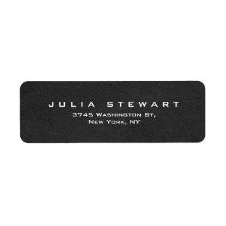 Personal moderno profesional gris elegante etiqueta de remitente
