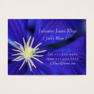 Personal Mommy Card, Template & Blue Clematis Business Card