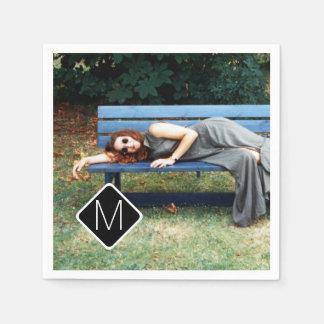 Personal Monogram Family Photo Collage A11 Napkin