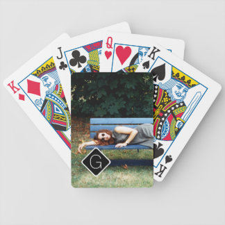 Personal Monogram Family Photo Collage B01 Bicycle Playing Cards