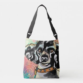 Personal Monogram Poodle Love Cross-Body Bag