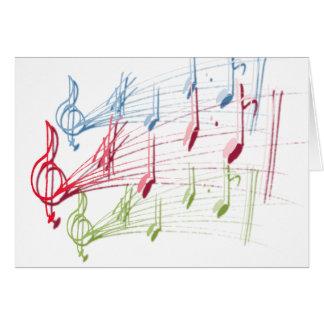 Personal musical tarjeta de felicitación