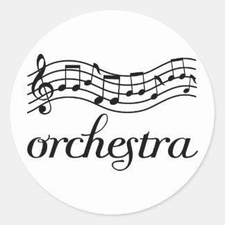 Personal negro de la orquesta pegatinas