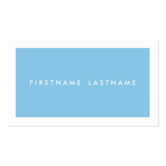 Personal Networking Business Cards in Light Blue