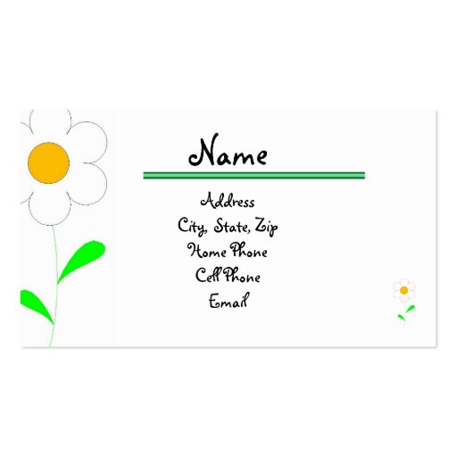 Personal Networking Card Business Card