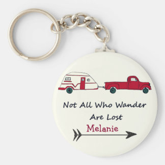 Personal Not All Who Wander Are Lost Quote Trailer Basic Round Button Keychain