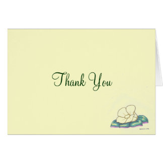 Personal or Business Thank You Card with Flower
